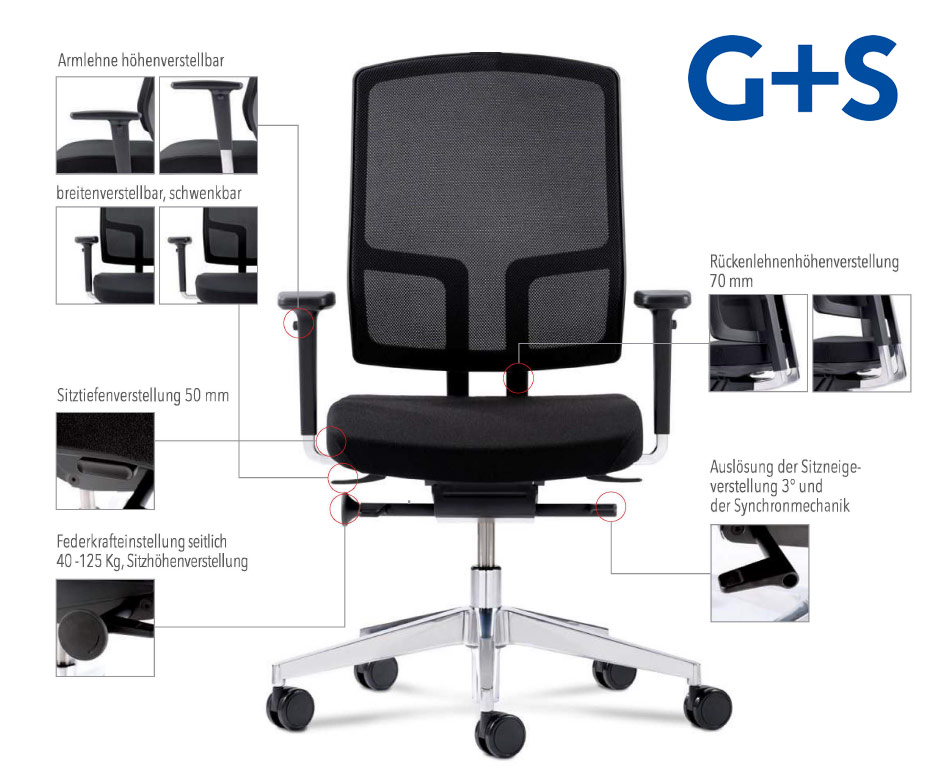 Bürodrehstuhl NetGo1